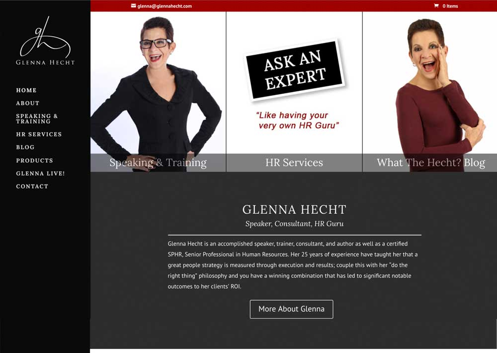 Glenna Hecht – Humanistic Consultant Website Redesign
